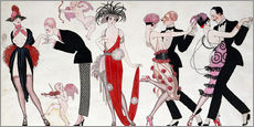 Wall sticker  Tango - Georges Barbier