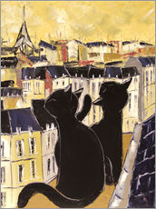 Wall Stickers  Cats on the rooftops of Paris - JIEL