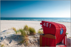Gallery print  Red beach chair with a view - Reiner Würz RWFotoArt