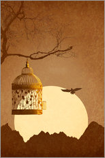 Wall sticker  Freedom from the golden cage - Monika Jüngling