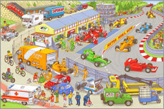 Wall sticker  Cars search and find picture: race track - Stefan Seidel