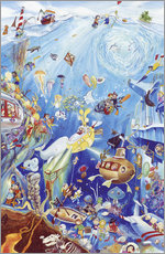 Wall Stickers  Search and find: Underwater world by Bernd Lehmann - Bernd Lehmann