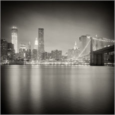Wall sticker New York Skyline at Night (Analogue Photography)