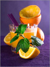 Gallery print  Orange juice in a glass - Edith Albuschat