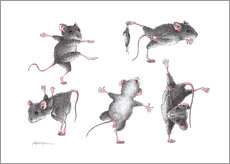 Wall sticker  Mouse-Gymnastics - Stefan Kahlhammer