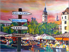M. Bleichner - Typical Munich Market Scene at Viktualienmarkt