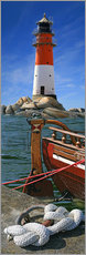 Gallery print  The Lighthouse In The Harbor - Monika Jüngling