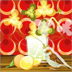 Gallery print  Vintage Birdy Cocktail III - Mandy Reinmuth