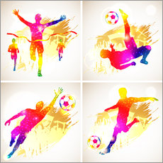 Gallery print  Soccer and Winner Silhouette - TAlex