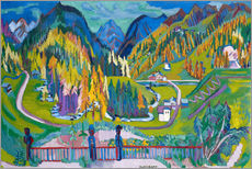 Wall sticker  Sertigtal in autumn - Ernst Ludwig Kirchner