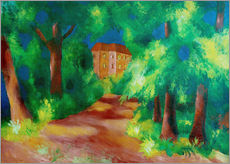 Wall sticker  Red house in a parc - August Macke