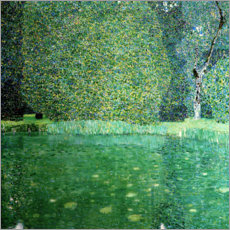 Acrylic print  Castle Pond in Kammer at Attersee - Gustav Klimt