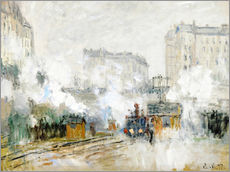 Gallery print  Railway station Saint-Lazare - Claude Monet