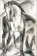 Franz Marc - Young Horse in Mountain Landscape