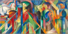 Foam board print  Stables - Franz Marc