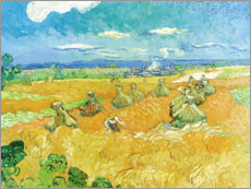 Premium poster Wheat Field with Reaper