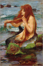 Wall sticker  A Mermaid - John William Waterhouse