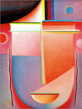 Aluminium print  Abstract head: Interior look - Alexej von Jawlensky