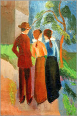 Gallery print  Three taking a walk - August Macke