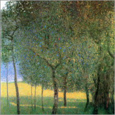 Acrylic print  Fruit trees on Attersee - Gustav Klimt