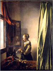Gallery print  Girl reading a letter at an open window - Jan Vermeer