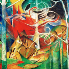 Acrylic print  Deer in the woods I - Franz Marc