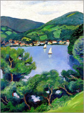 Wall Sticker  View of Tegernsee lake - August Macke