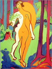 Wall sticker  Act in orange and yellow - Ernst Ludwig Kirchner