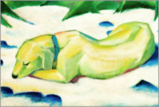 Premium poster  Dog lying in the snow - Franz Marc