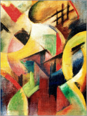 Premium poster  Small composition I - Franz Marc