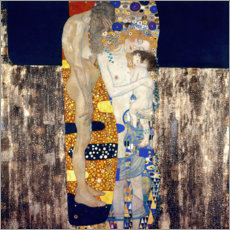 Foam board print  The Three Ages - Gustav Klimt