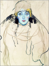Gallery Print  Head of a Woman - Gustav Klimt