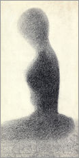 Wall sticker  Young woman (study) - Georges Seurat