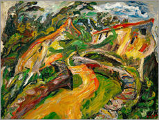 Gallery print  Landscape with ascending road - Chaim Soutine