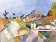Wall sticker  Rocky Landscape - August Macke