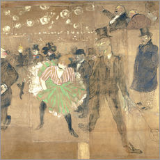 Wall sticker  Cancan Dance - Henri de Toulouse-Lautrec