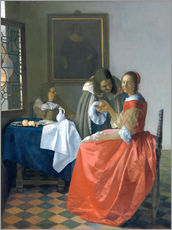 Gallery print  The girl with the wine glass - Jan Vermeer