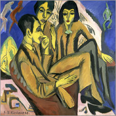 Wall sticker  Group of artists, a conversation among artists - Ernst Ludwig Kirchner