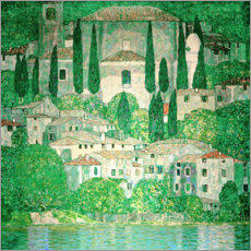 Canvas print  Church in Cassone - Gustav Klimt