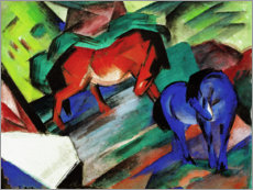 Foam board print  Red and Blue Horses - Franz Marc