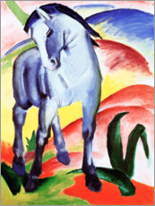 Wood print  Blue horse I - Franz Marc