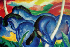 Wood print  Large blue horses - Franz Marc