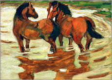 Gallery print  Two horses in the flood - Franz Marc