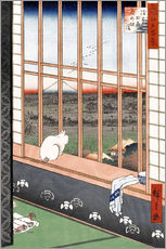 Wall sticker  Asakusa rice fields and Torinomachi festival - Utagawa Hiroshige