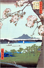 Wall sticker  Masaki and the Suijin Grove by the Sumida River - Utagawa Hiroshige