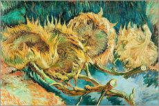 Wall Stickers  Four Cut Sunflowers - Vincent van Gogh