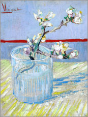 Premium poster  Blossoming almond branch in a glass - Vincent van Gogh