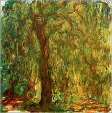 Wall Stickers  Weeping willow - Claude Monet