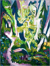Wall sticker  Inside a forest - Ernst Ludwig Kirchner