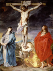 Canvas print  Christ on the Cross with the Virgin, St. John and Mary Magd - Anthonis van Dyck